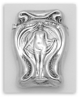 ANTIQUE ART NOUVEAU STERLING SILVER MATCH SAFE
