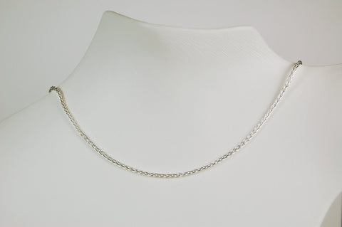 STERLING SILVER WHEAT CHAIN 24 INCH NECKLACE SPIGA WHEAT