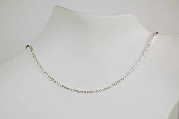 STERLING SILVER WHEAT CHAIN 20 INCH NECKLACE SPIGA WHEAT