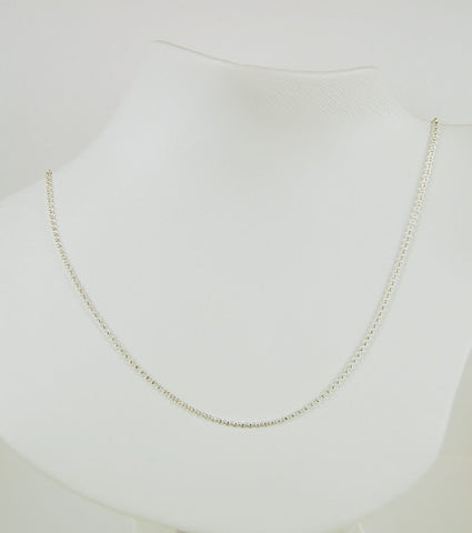 STERLING SILVER NECKLACE 20 INCH CHAIN ROLO LINK 1.5MM THICK