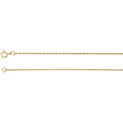 "14K Solid Gold Chain .75MM (18"")"