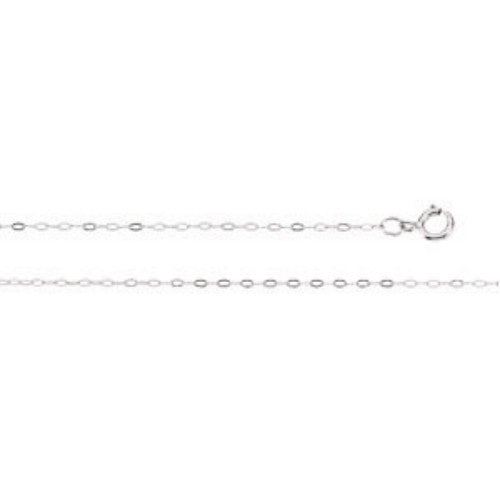 14K WHITE GOLD CHAIN 18 INCH and .50MM THICK FOR PENDANT