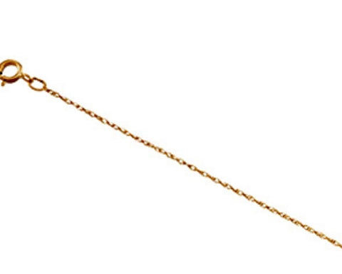 "14k Solid Gold Rope Chain Necklace (16"")"