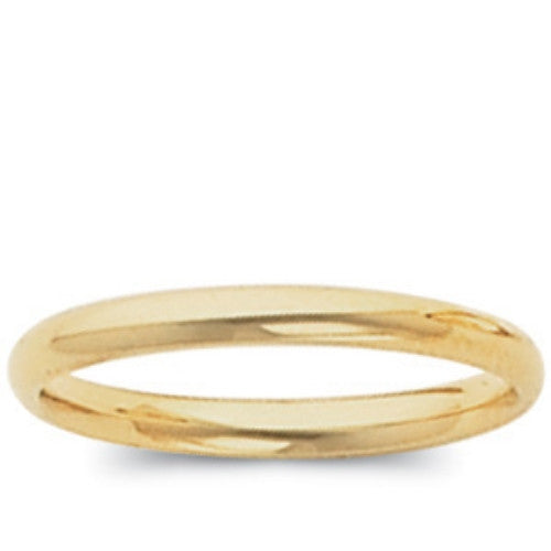 14K Yellow Gold Comfort Fit Wedding Band (2MM) (Size 10)