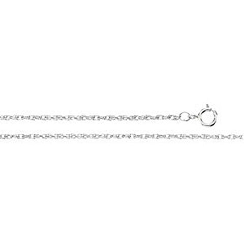 "14K White Gold Rope Chain (.75MM) (24"")"