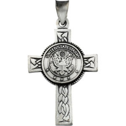 STERLING SILVER CROSS UNITED STATES ARMY