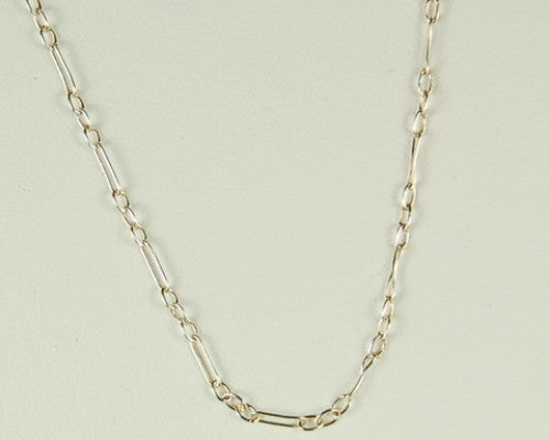 18 INCH CHAIN FIGARO LINK STERLING SILVER NECKLACE