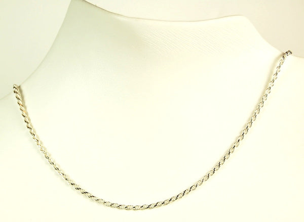 CHAIN STERLING SILVER 24 INCH ROPE