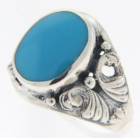 STERLING SILVER RING TURQUOISE BUTTERFLY