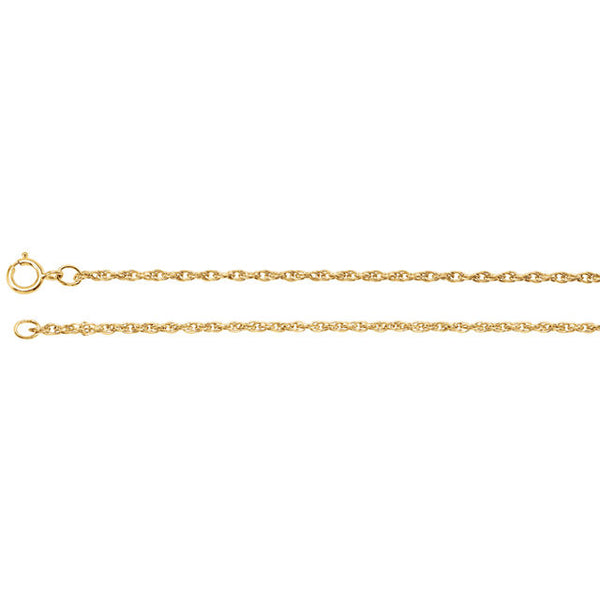 "14K Yellow Gold Rope Chain (1.5MM) (20"")"