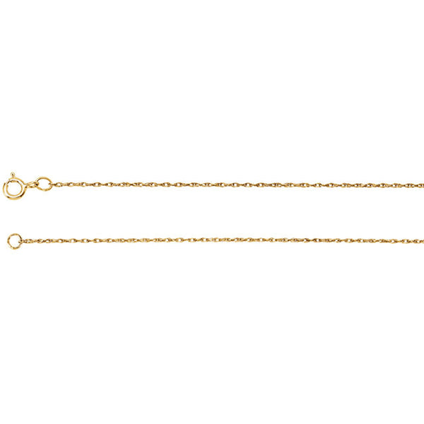 "14K Gold Rope Chain (24"")"