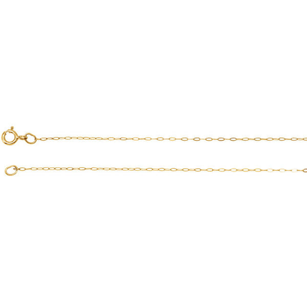 GOLD CHAIN 14K NECKLACE 16 INCH FOR PENDANTS RETAIL $90 + TAX!