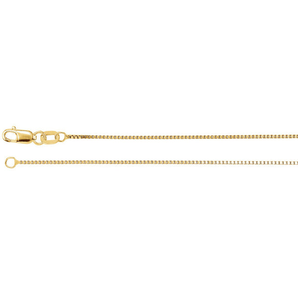 "14K Yellow Gold Box Link Chain (18"")"