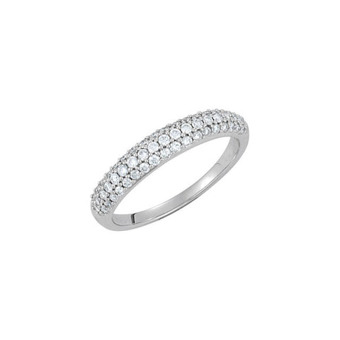 (0.50 Carat) 14K White Gold Diamond Anniversary Wedding Band (Color: G, Clarity: SI)