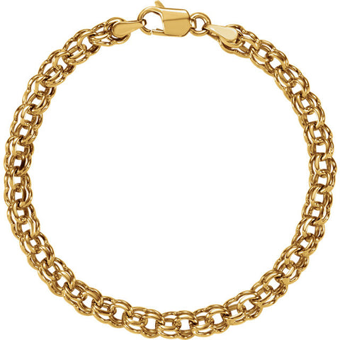 "14K Yellow Gold Charm Bracelet (7"") (5.5MM)"
