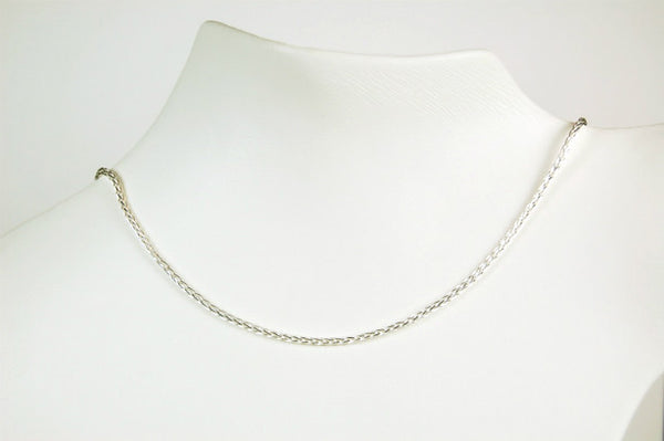 WHEAT CHAIN 18 INCH NECKLACE STERLING SILVER SPIGA RETAIL $70 + TAX!