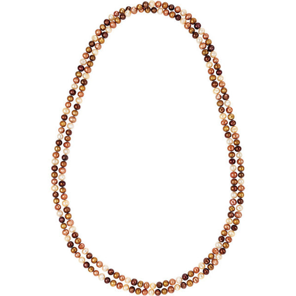 CHOCOLATE PEARL NECKLACE 72 INCH ROPE 8.5-9.0MM