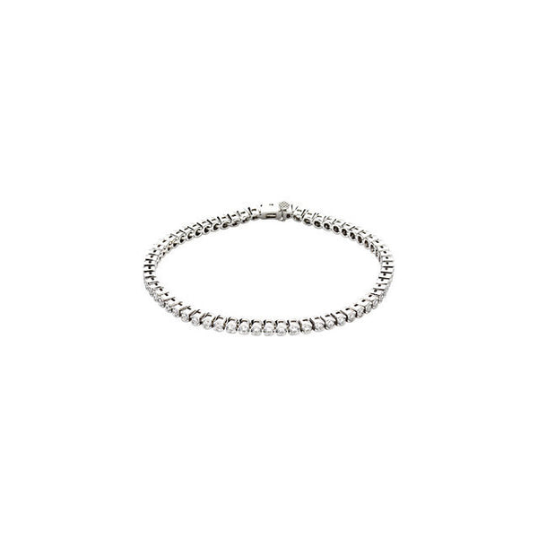 "(3 Carat) 14K White Gold Diamond Line Tennis Bracelet (Color: G, Clarity: I1) (7.25"")"