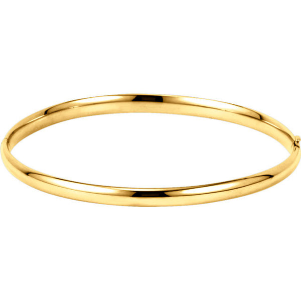 14k Yellow Gold Bangle Bracelet (4mm in width)