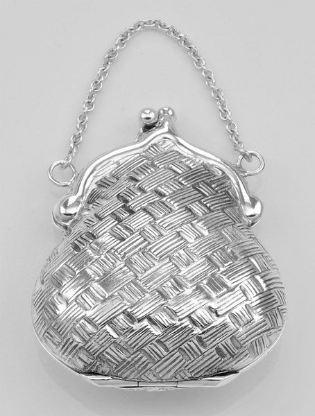PURSE PILLBOX STERLING SILVER ALSO A PENDANT RETAIL $175 + TAX!