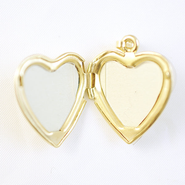 14k yellow gold heart locket pendant i love you w pink green and 14k yellow gold heart locket pendant i love you w pink green mozeypictures Images