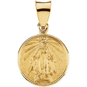18K Yellow Gold 13mm Miraculous Medal