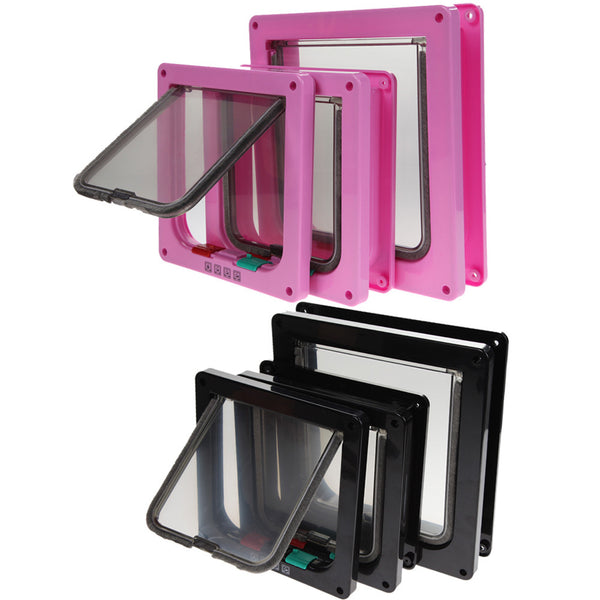 3 Size Pink or Black Pet Gate - Apparel for Pets