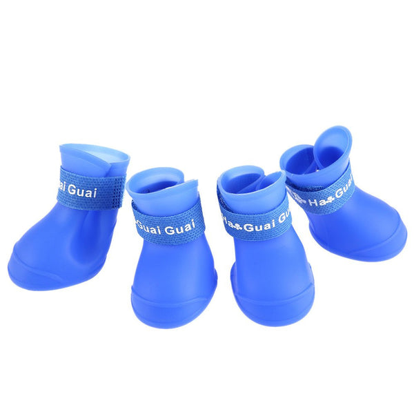 2 Pair Dog Rain Shoes