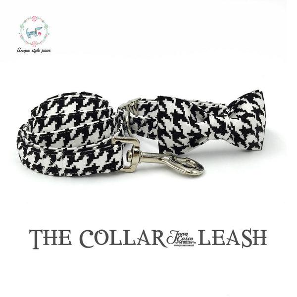 Houndstooth Collar and Leash Set
