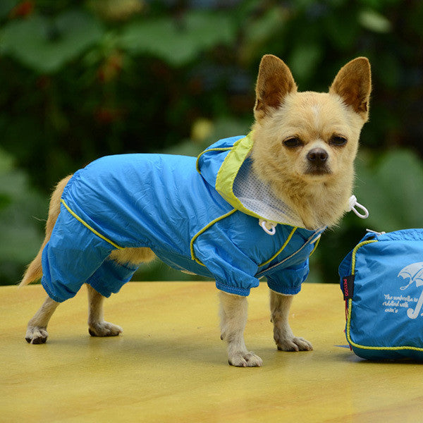 Hooded Waterproof Jumpsuit for Small Dogs - Apparel for Pets - 3
