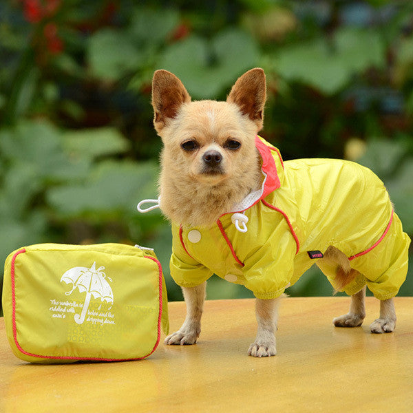 Hooded Waterproof Jumpsuit for Small Dogs - Apparel for Pets - 2