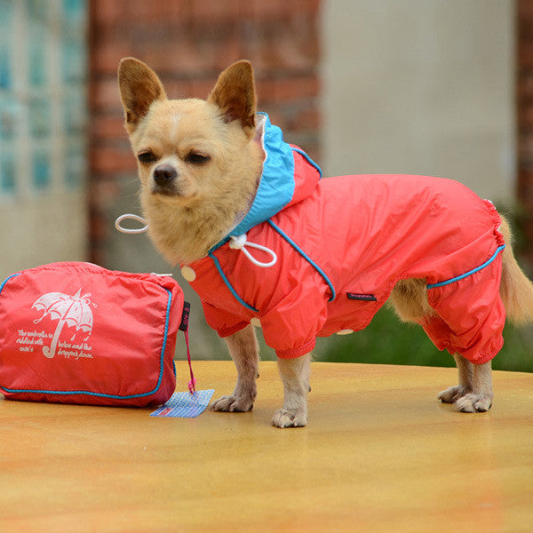 Hooded Waterproof Jumpsuit for Small Dogs - Apparel for Pets - 4