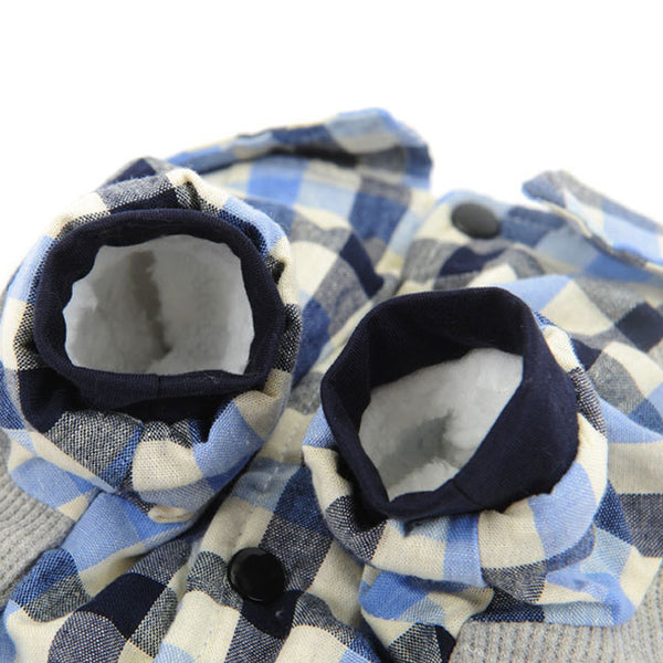 Plaid Shirt, Sweater, and Bowtie - Dog Clothes - Apparel for Pets