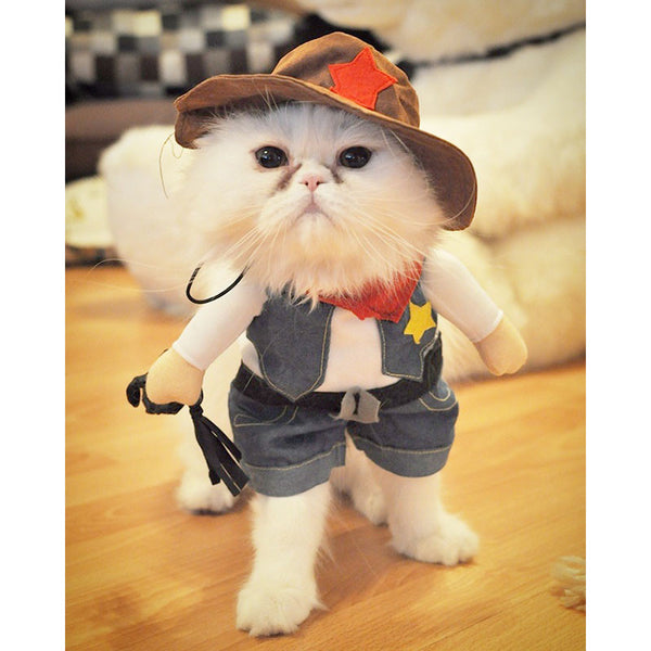 Cowboy Cat Costume - Apparel for Pets