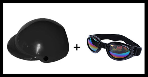 Pet Helmet with Doggles - Apparel for Pets