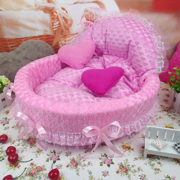 Luxury  Prince/Princess Dog Bed - Apparel for Pets