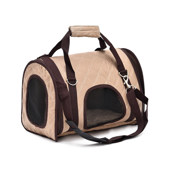 Simple Beige Pet Carrier - Apparel for Pets