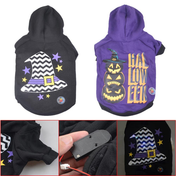 LED Halloween Pet Hoodie - Apparel for Pets