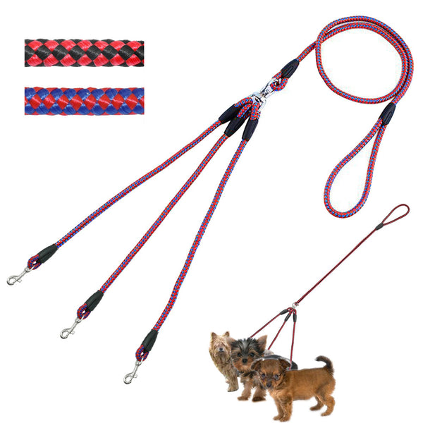 Nylon Braided 3-way Dog Leash - Apparel for Pets