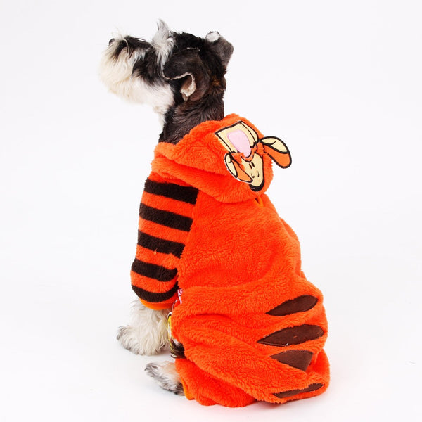 Tiger Hooded Romper - Dog Costumes - Apparel for Pets - 1