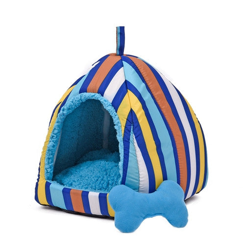 Striped Cozy Cave - Pet Beds - Apparel for Pets - 2