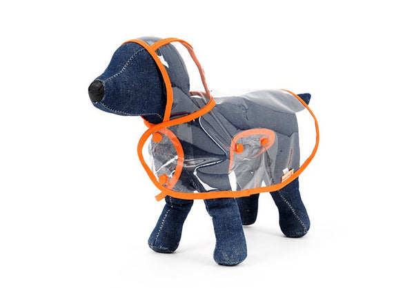 Transparent Dog Raincoat - Apparel for Pets