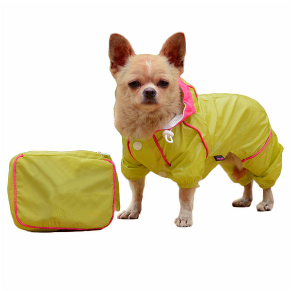 Multi-Color Dog Raincoat Jumpsuit - Apparel for Pets
