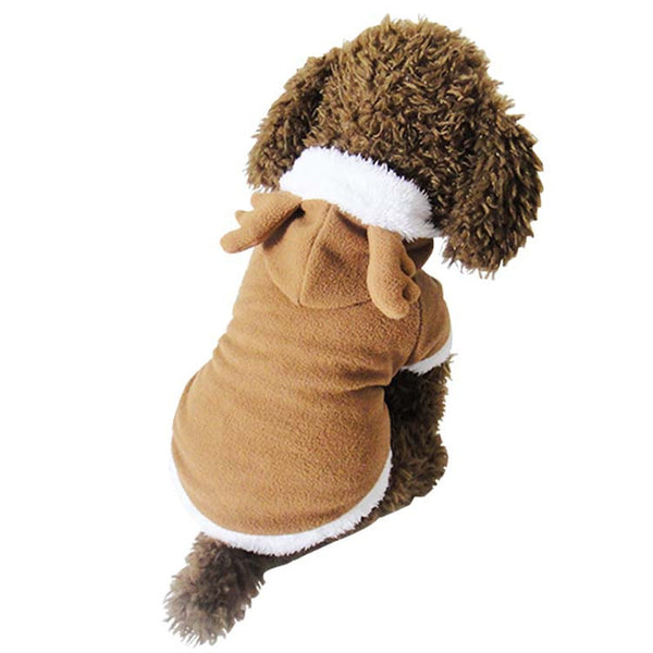 Fleece Elk Hoodie - Dog Costumes - Apparel for Pets
