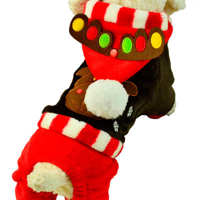 Holiday Deer Romper - Dog Costumes - Apparel for Pets