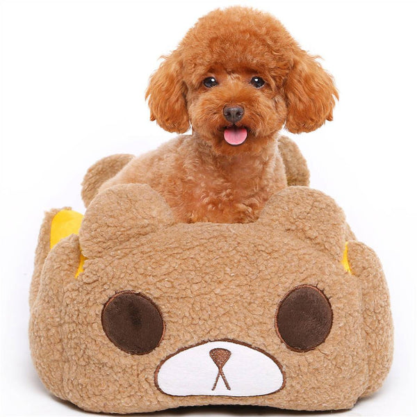Cute Bear Shaped Dog Bed - Apparel for Pets