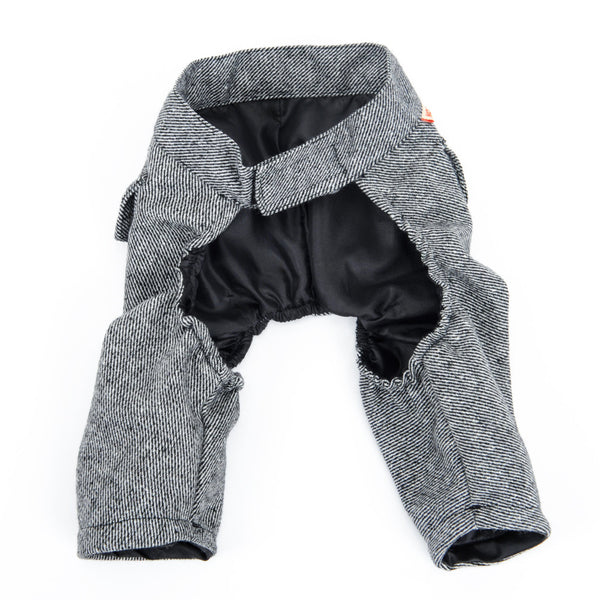 Twill Grey Pants - Dog Clothes