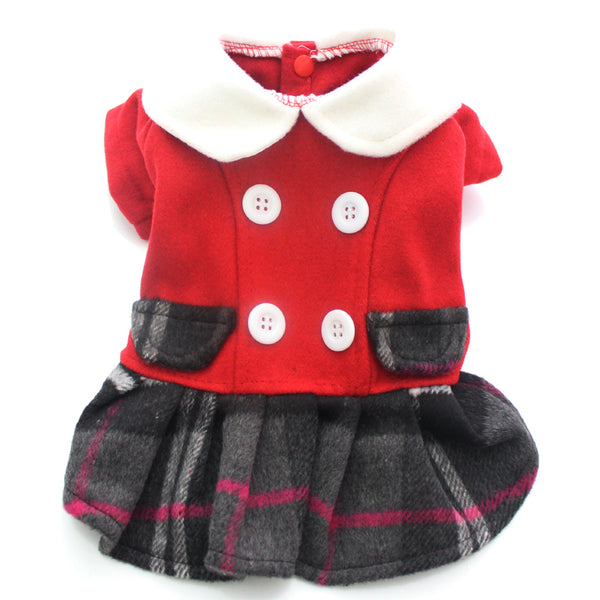 Plaid Princess Coat - Apparel for Pets