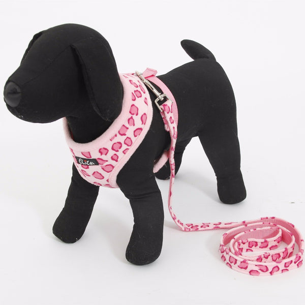 Cute Leopard Print Adjustable Dog Harness - Apparel for Pets
