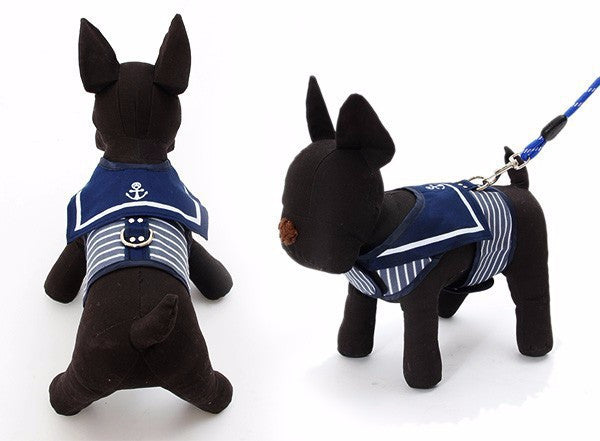 Navy Blue Sailor Vest Harness - Apparel for Pets